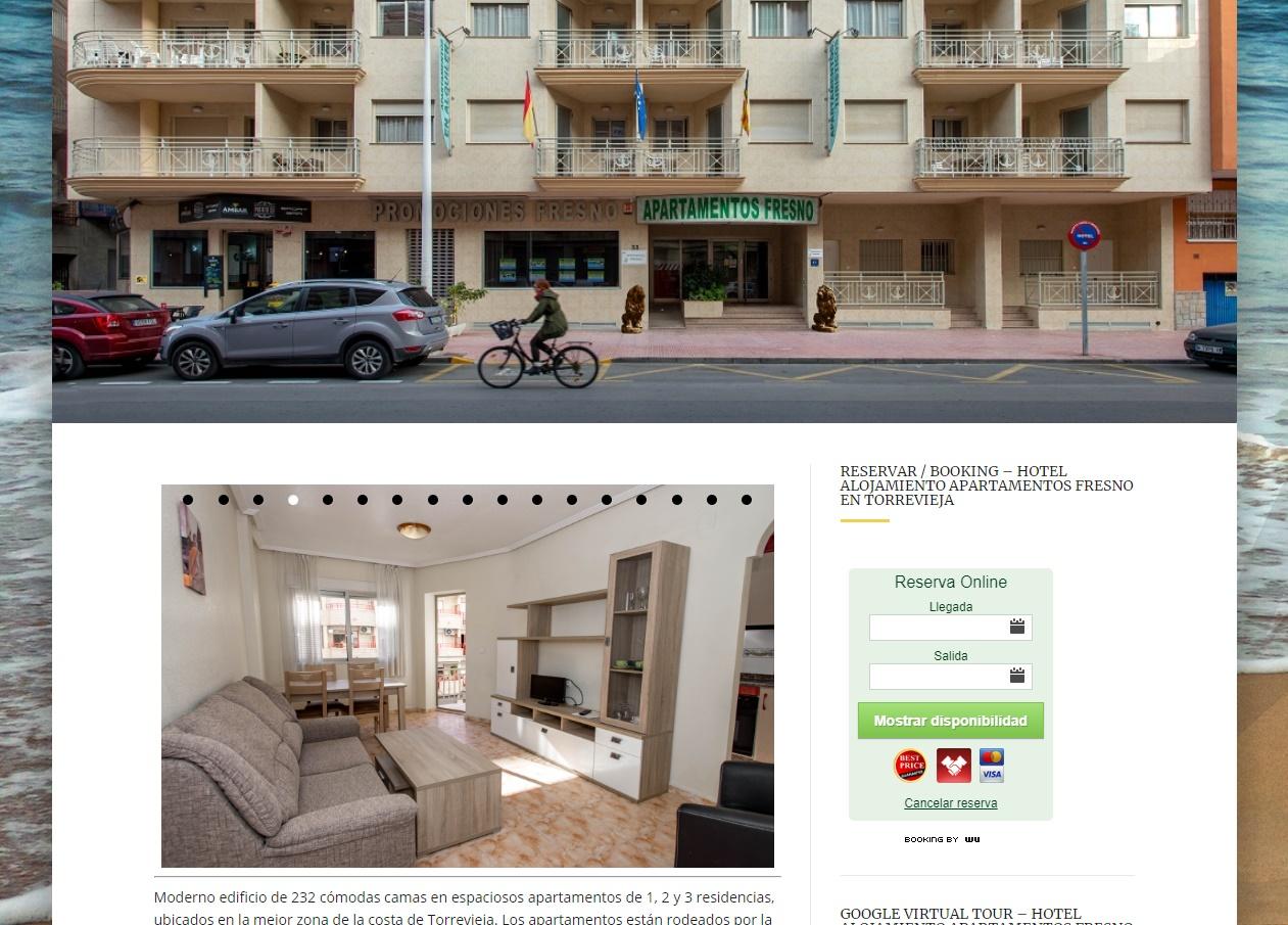 Apartamentos turísticos Fresno en Torrevieja.