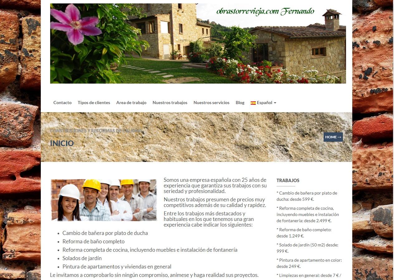 Servicios empresas de obras y reformas en Torrevieja