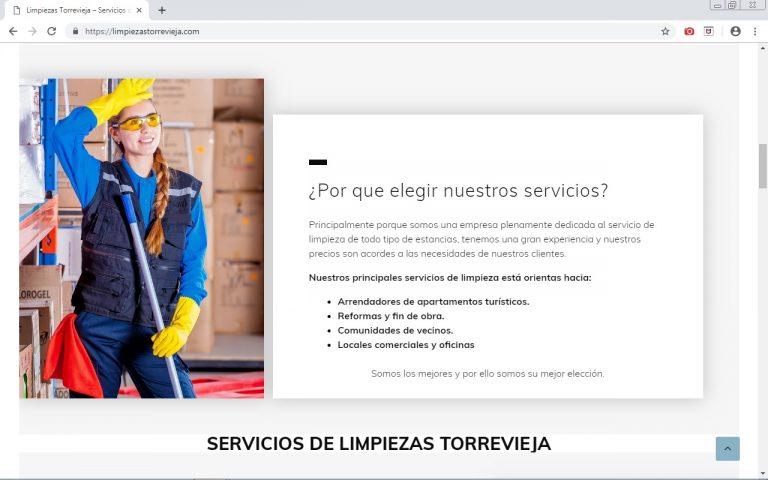 Servicios y empresas de limpieza en Torrevieja. limpiezastorrevieja.com hecha por agbweb.es