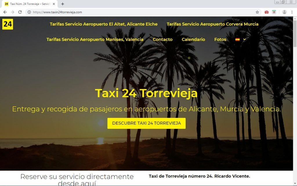 web del taxi número 24 de Torrevieja. Diseño web por agbweb.es Diseño web en Torrevieja