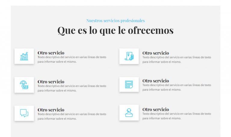 Páginas web sencillas y económicas para servicios.
