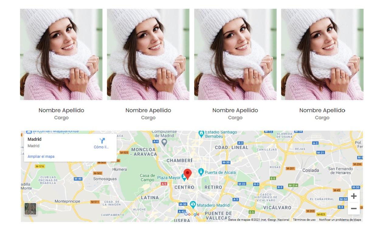 mapas de ubicación en páginas web sencillas y económicas.