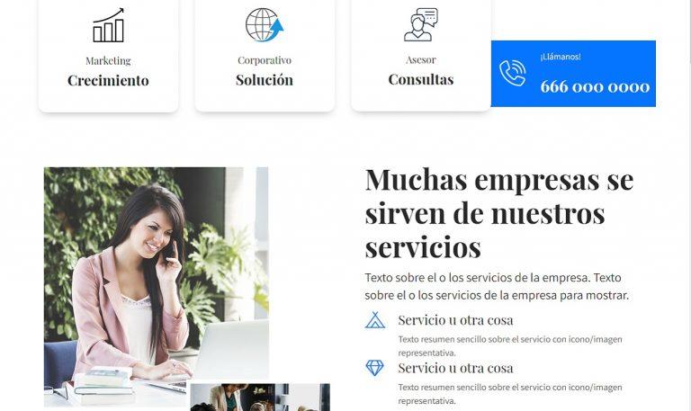 Páginas web sencillas y económicas negocios nuevos.